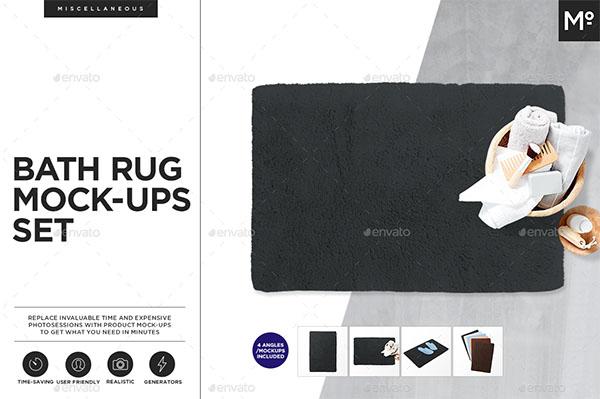 Bath Rug Towel Mock-ups Set