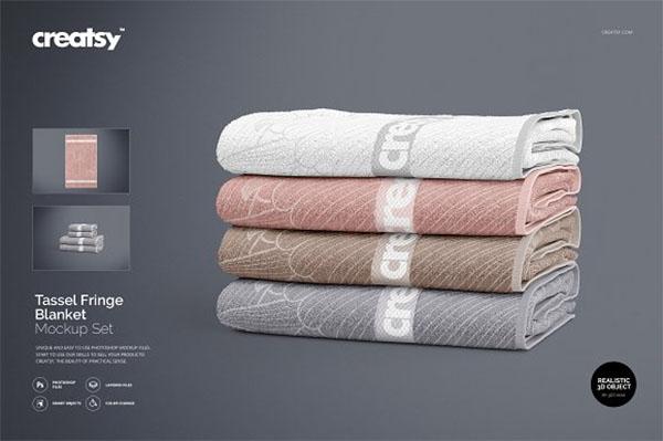 Bath Towel Mockup Set