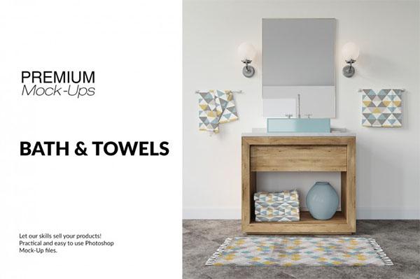 Bath & Towels Mockup Set