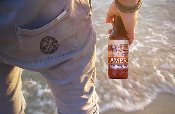 Beach Beer Bottle Logo Mockup