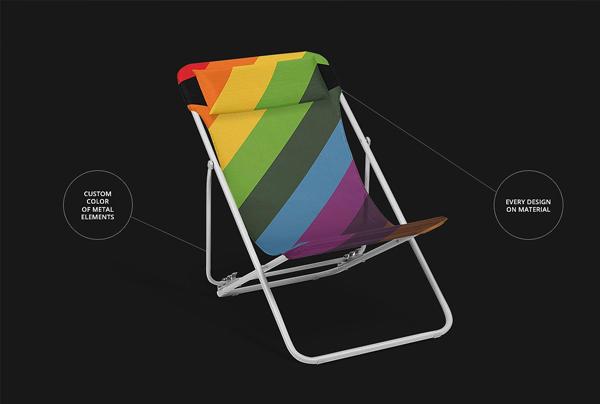 Beach Folding Chair Mockup