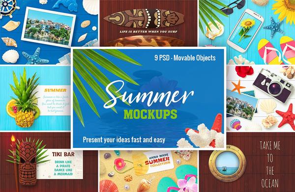 Summer Beach Mockups