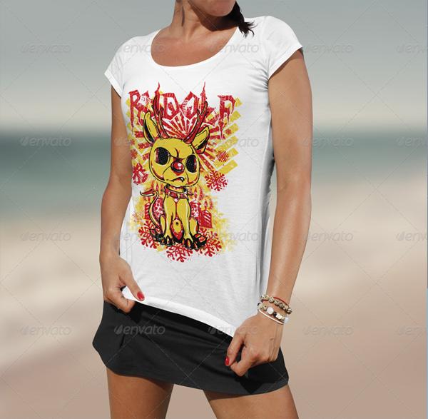 Beach T-Shirt Mock Up