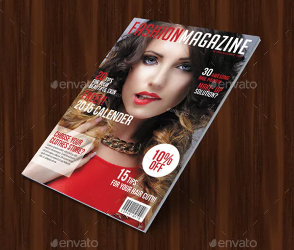Beautiful Lifestyle Magazine Cover Template