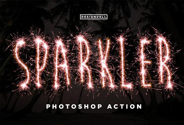 Beautiful Sparkle Photoshop Actions