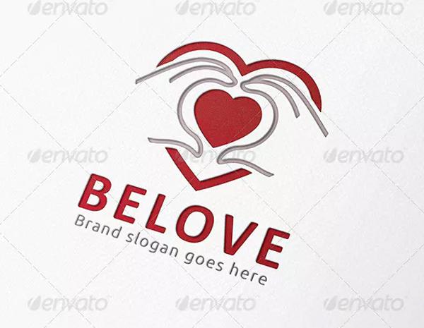 Beloved Heart Hand Logo
