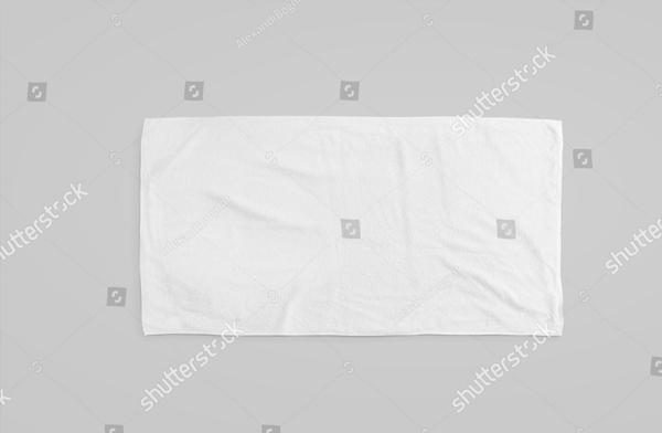 Blank Beach Towel Mockup