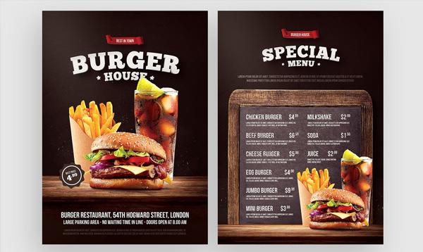 Burger Flyer Photoshop Template
