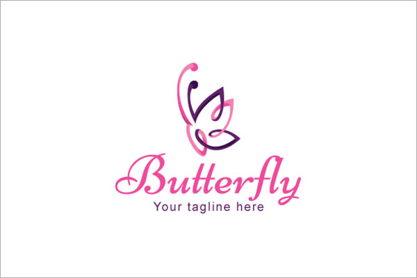 Butterfly Beautiful Insect Stock Logo Template
