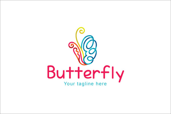 Butterfly Creative Continuous Line