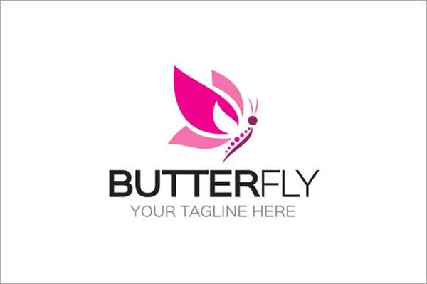Butterfly Logo PSD Template