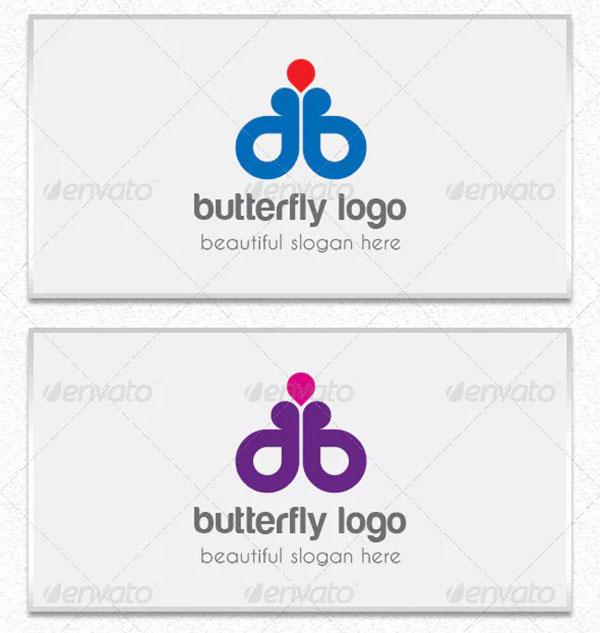 Butterfly Logo Template PSD Design