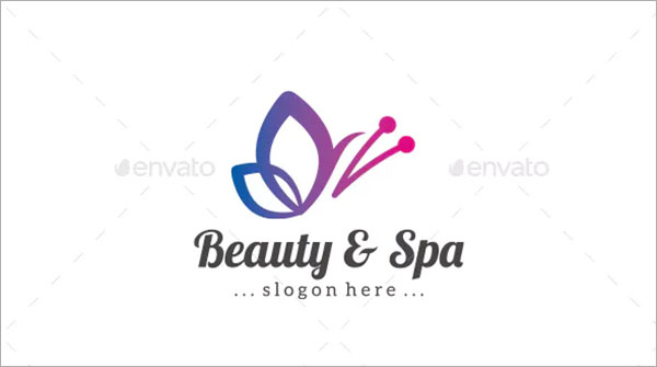 Butterfly and Spa Logo