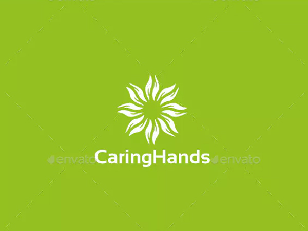 Caring Hands Logo Template