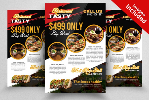 Clean and Creative Food Flyer PSD Template
