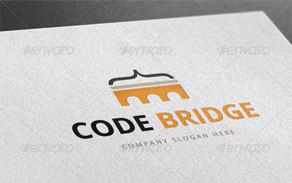 Code Bridge Logo Template