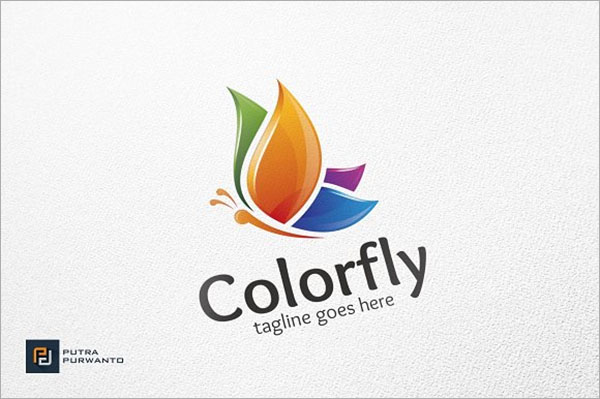 Colorfly and Butterfly Logo Template