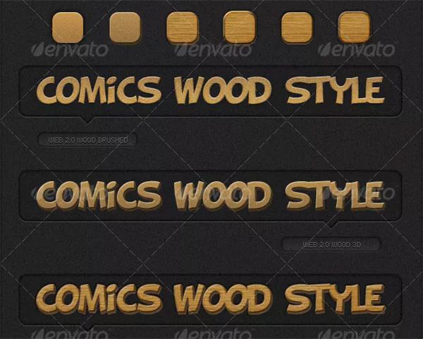Comics Photoshop Wood Styles