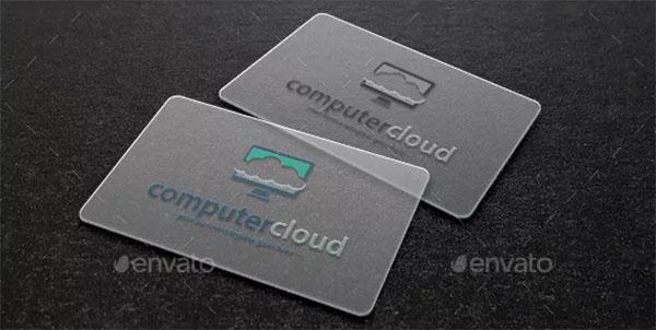 Computer Cloud Logo Template