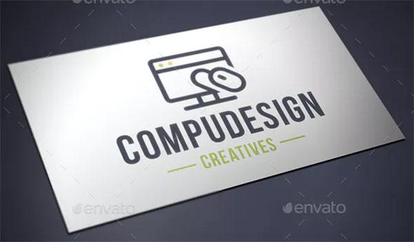 Computer Design Logo Template