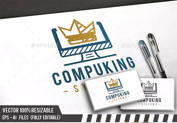 Computer King Logo Template