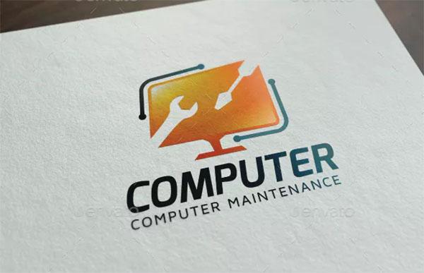 Computer Maintenance Logo Template