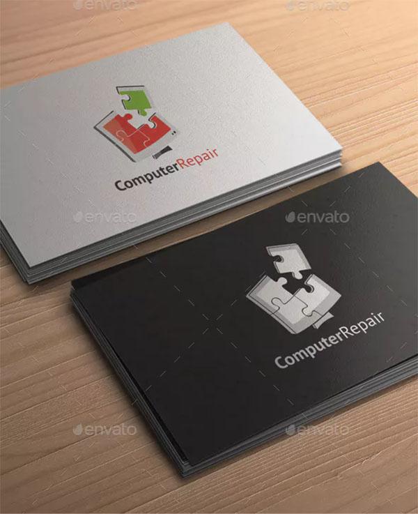 Computer Repair Logo Template Design
