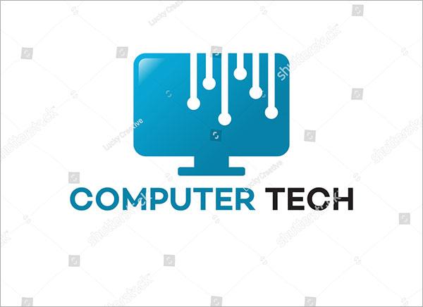 Computer Technology Logo Template