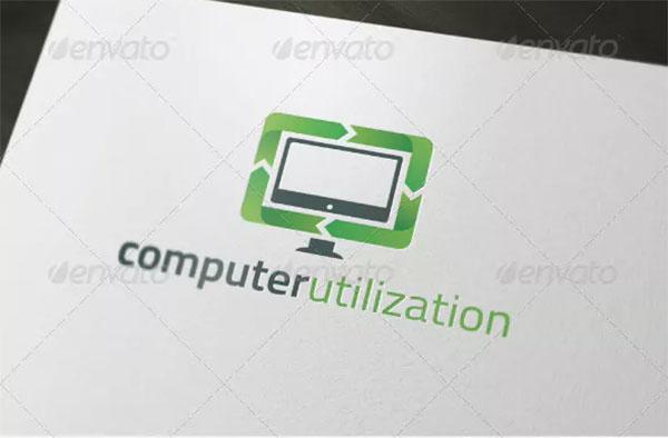 Computer Utilization Logo Template