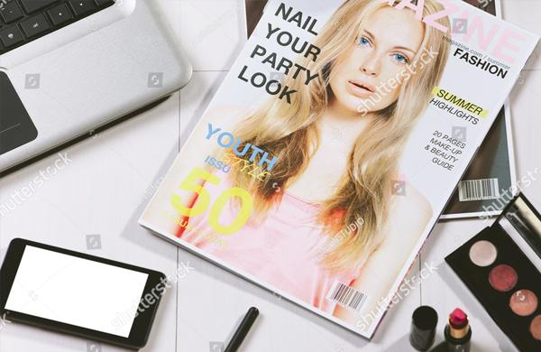 Creative Fashion Magazine Cover Design