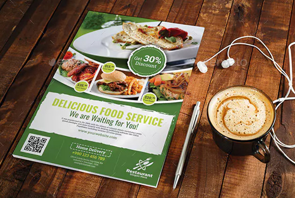 Delicious Food Service Flyer Template