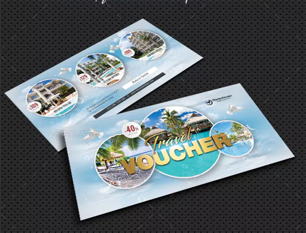 Deluxe Travel Tour Gift Voucher Template