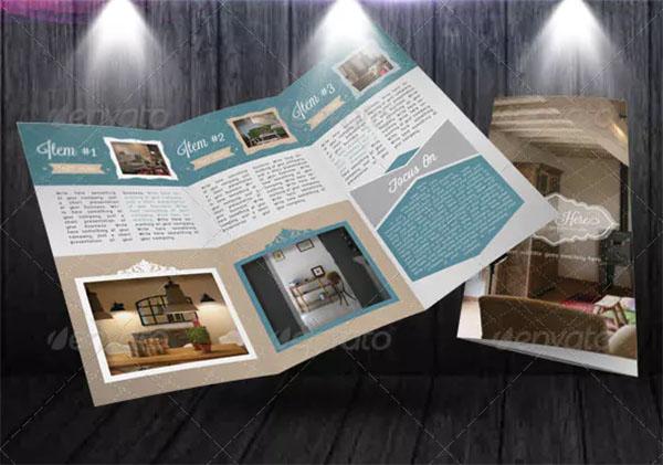 Design Furniture Retro Trifold Brochure