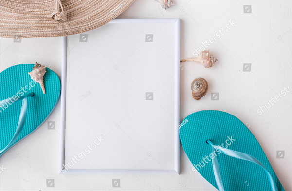 Elegant Beach Frame Mockup