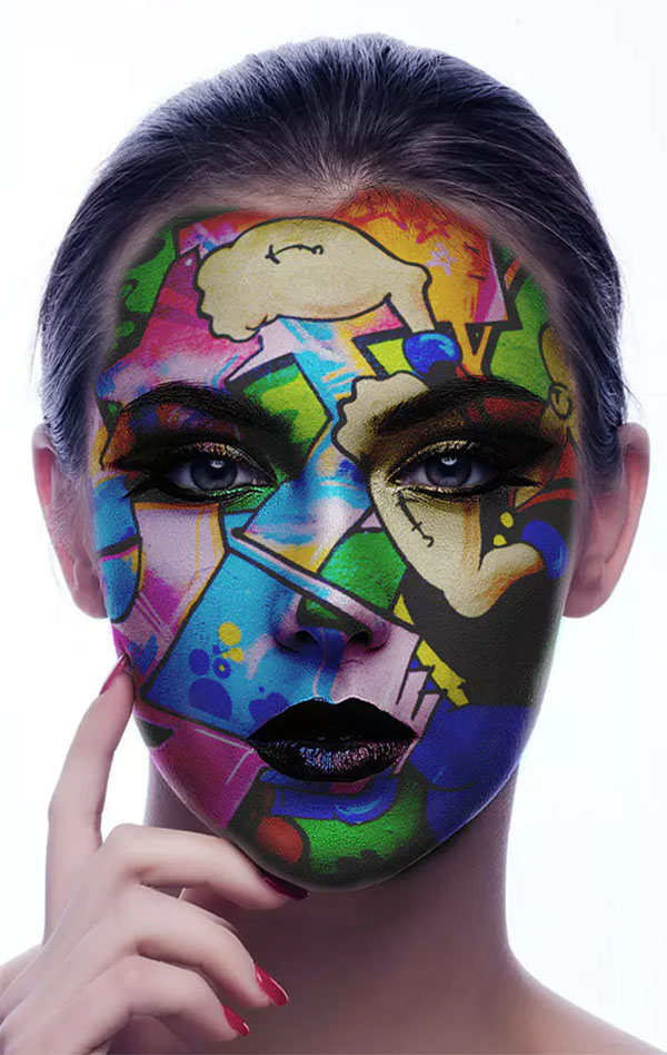 Face Paint Photoshop Action