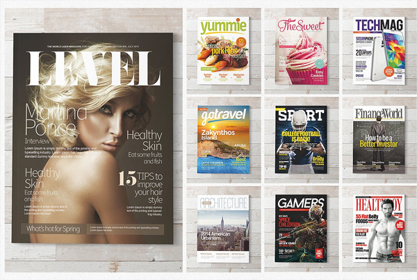 Fashion Magazine Covers PSD Templates