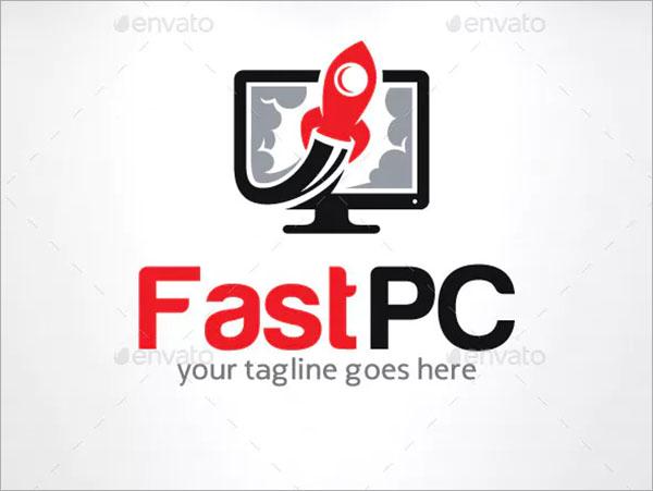 FastPC Computer Logo Template