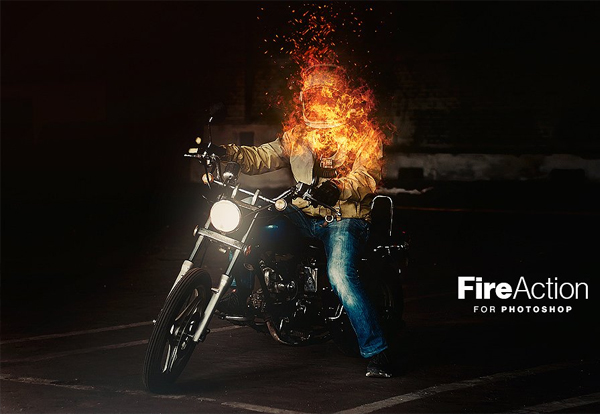 Fire Action for Photoshop