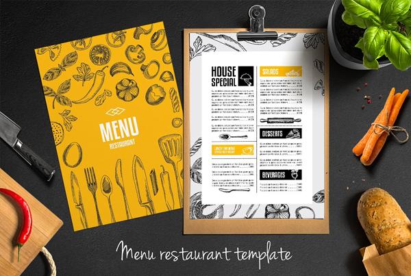 Food Menu Restaurant Flyer Design Template