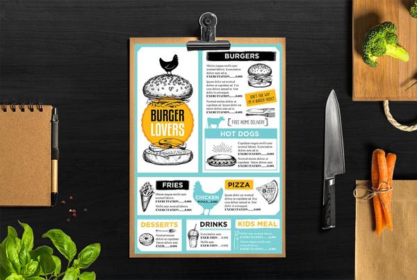 Food Menu Restaurant Flyer Design