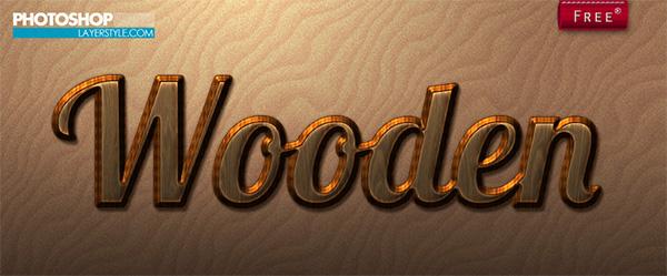 Free Photoshop Wood Style
