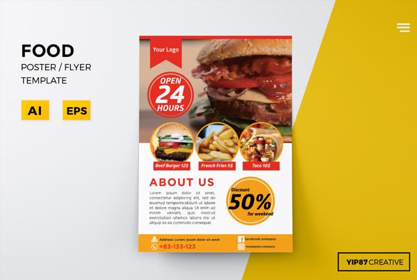 Fully Editable Food Flyer Design Template