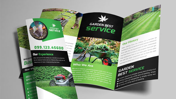 Garden Service Brochure Templates