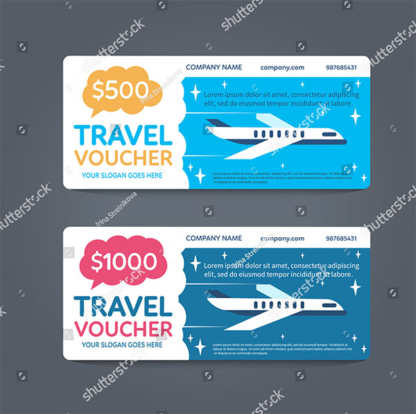 Gift Travel Voucher Template