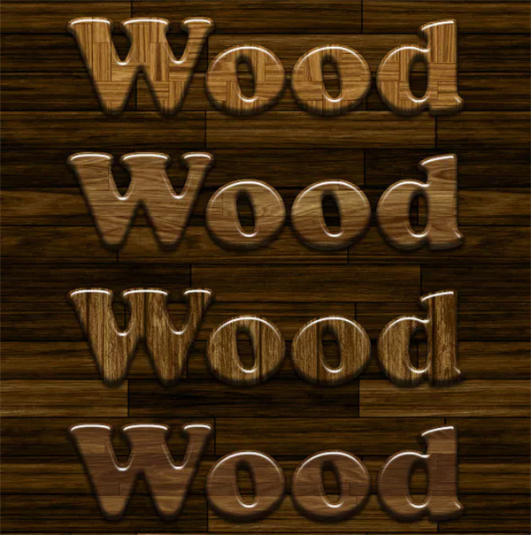 Glossy Wood Photoshop Styles