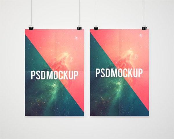 Hanging Double Poster Mockup Presentation