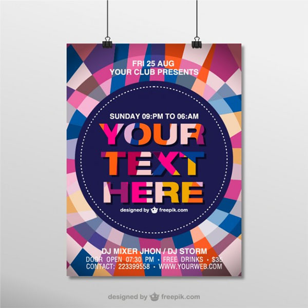 Hanging Free Vector Mock-up