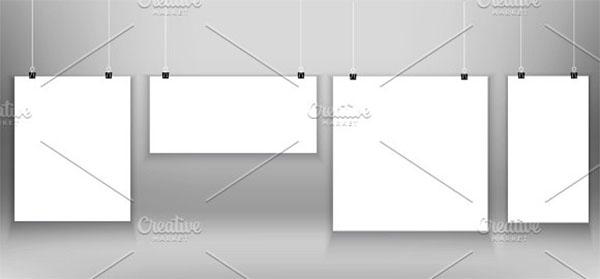 Hanging Vector Poster Mockups