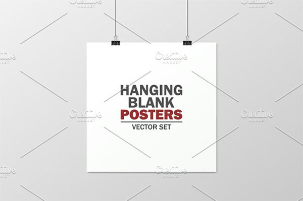 Hanging Blank Posters
