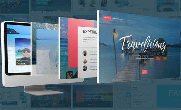 Holiday Travel Agency PowerPoint Template